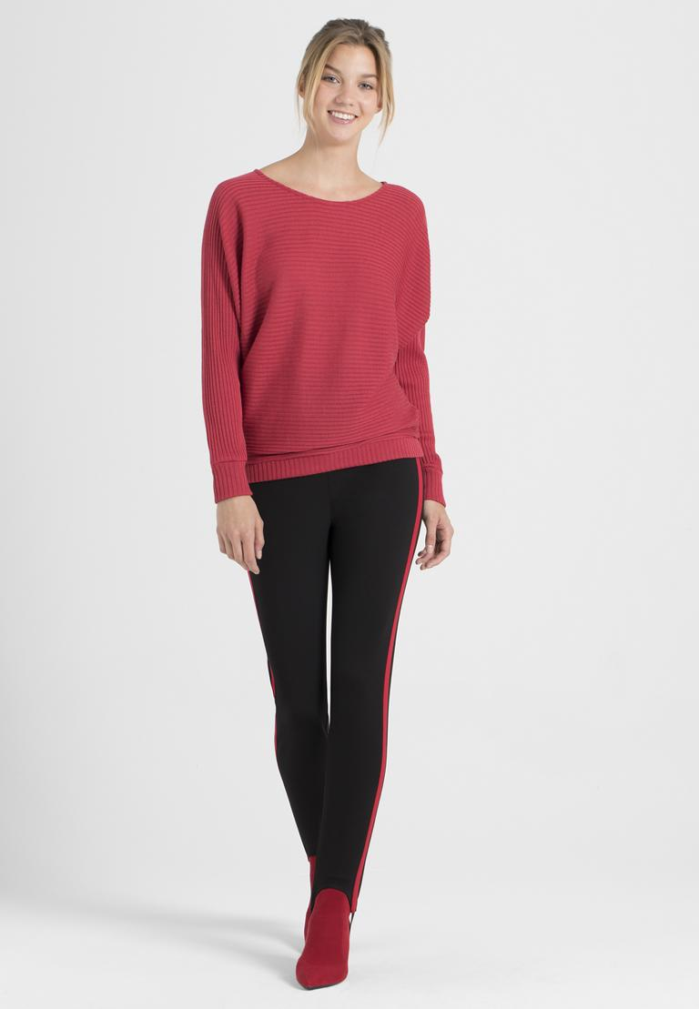 Rückansicht von Ana Alcazar Fledermaus Shirt Pereky Rot