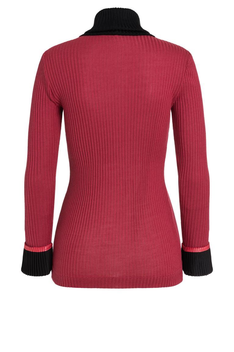 Rückansicht von Ana Alcazar Rollkragen Shirt Picabea Rot