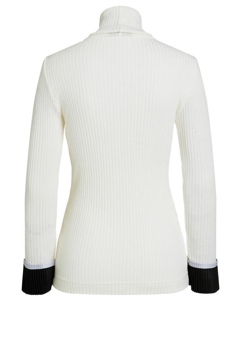 Rückansicht von Ana Alcazar Rollkragen Shirt Piaby Weiß