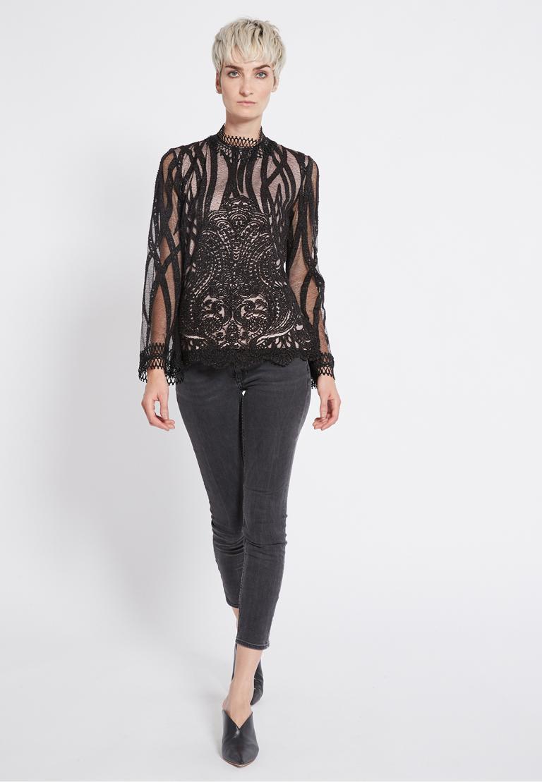 Rückansicht von Ana Alcazar Spitzen Shirt Ranja