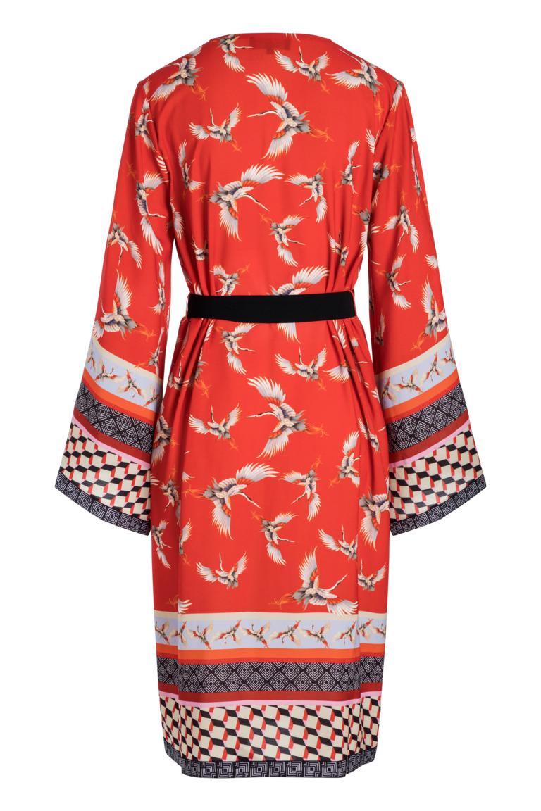 Rückansicht von Ana Alcazar Kimono Meybel Red