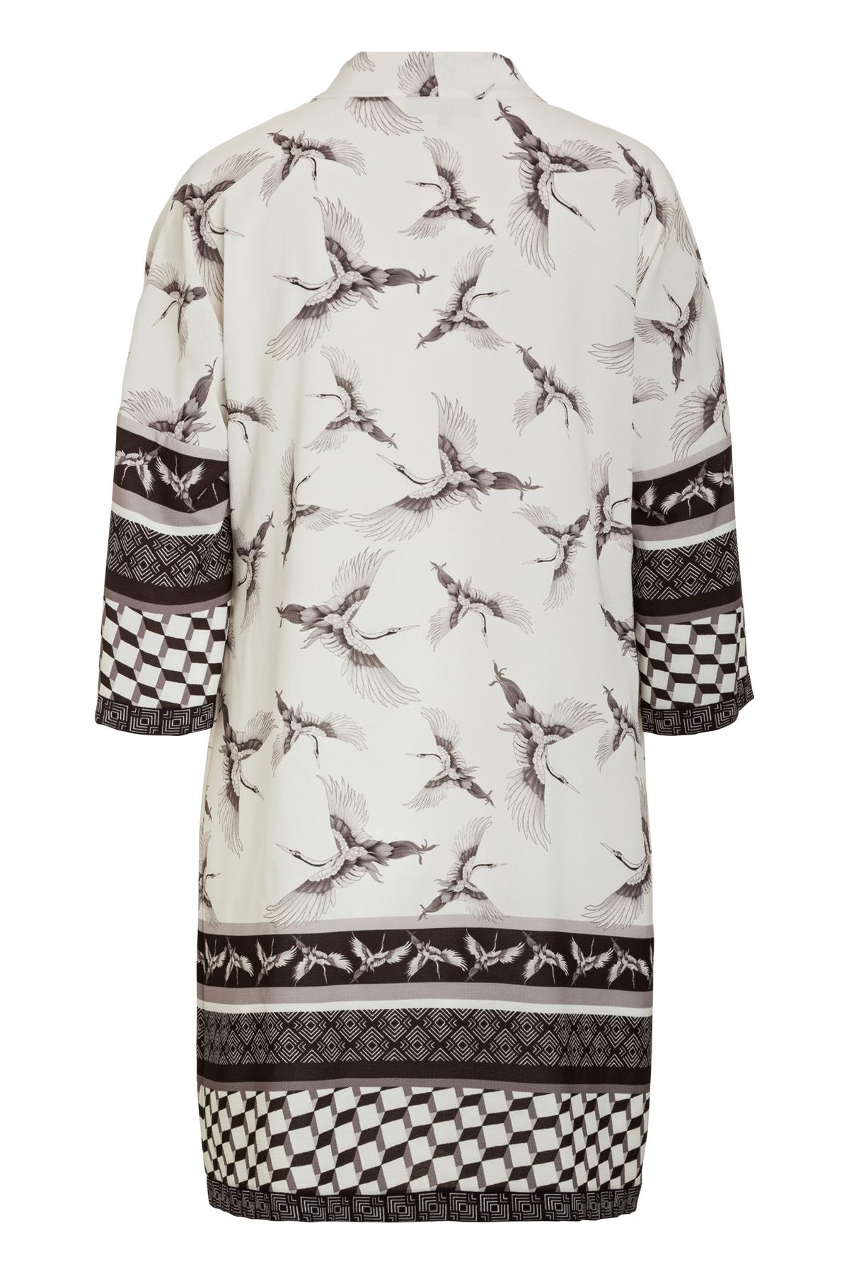 Rückansicht von Ana Alcazar Asia Tunika Kleid Meily White
