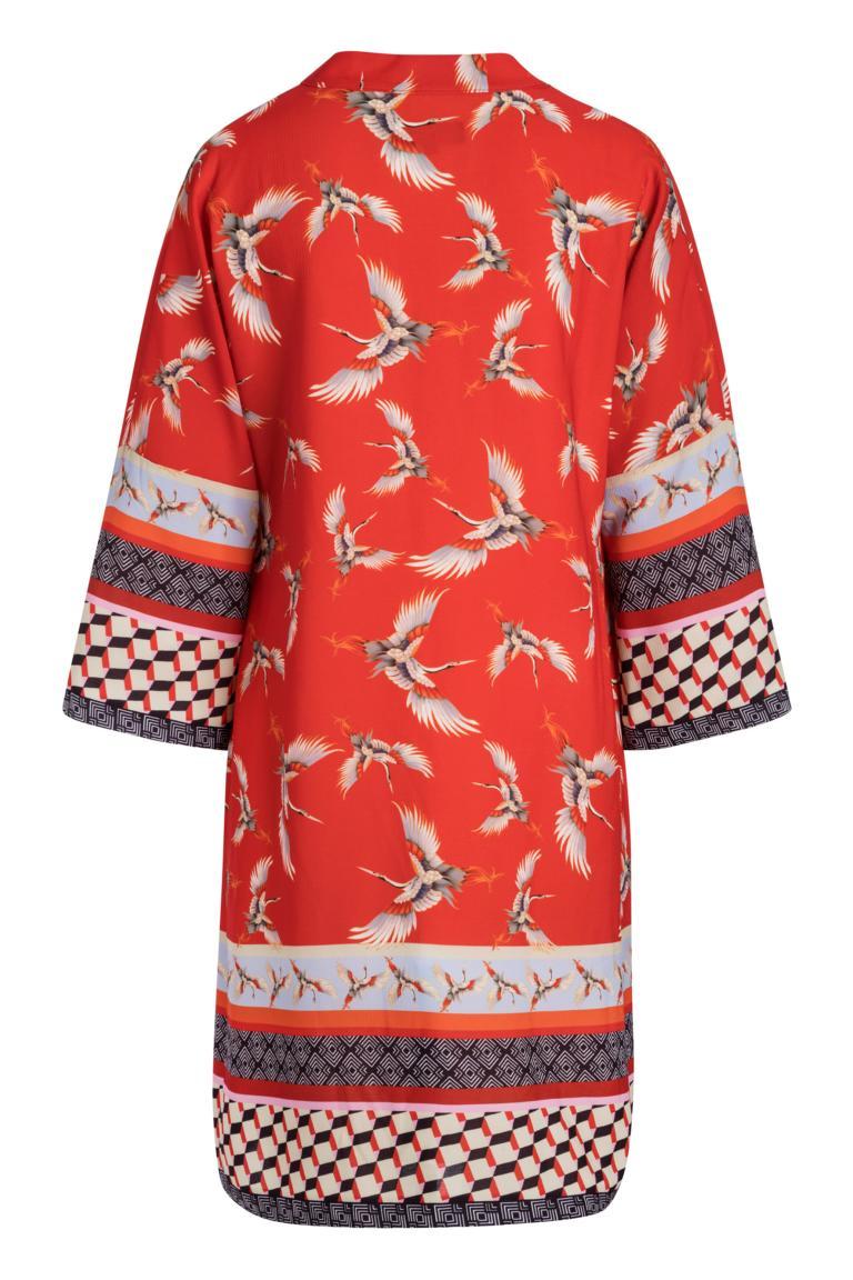Rückansicht von Ana Alcazar Tunika Kleid Meily Red