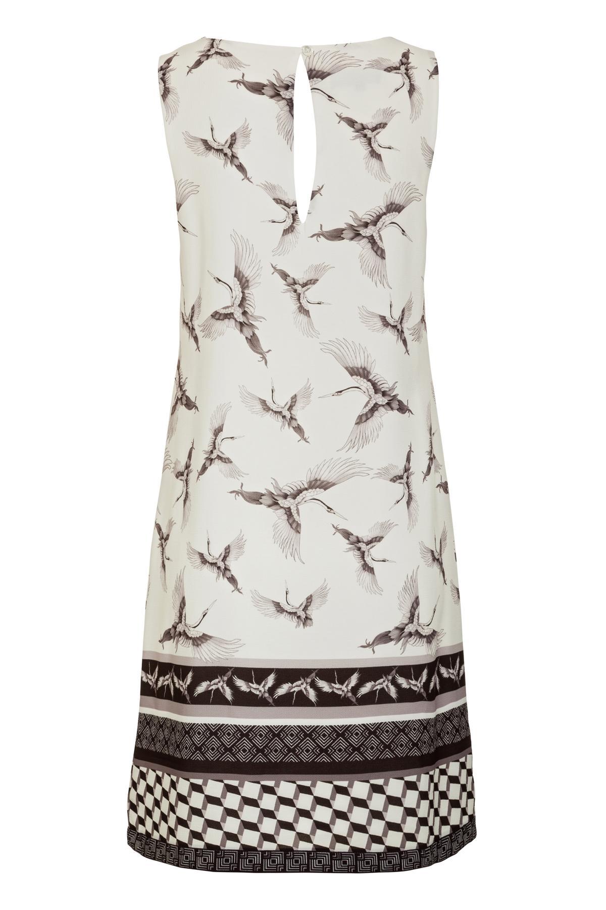 Rückansicht von Ana Alcazar A-Linien Kleid  Meilea White
