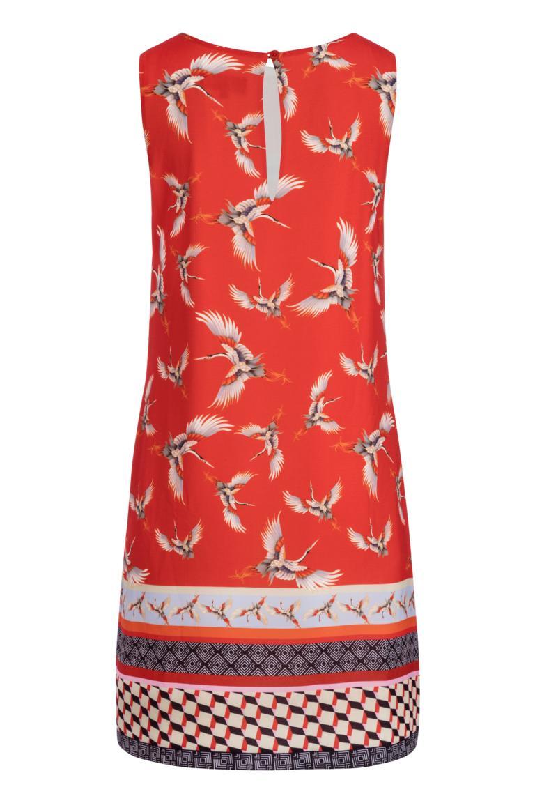 Rückansicht von Ana Alcazar A-Linien Kleid Meilea Red