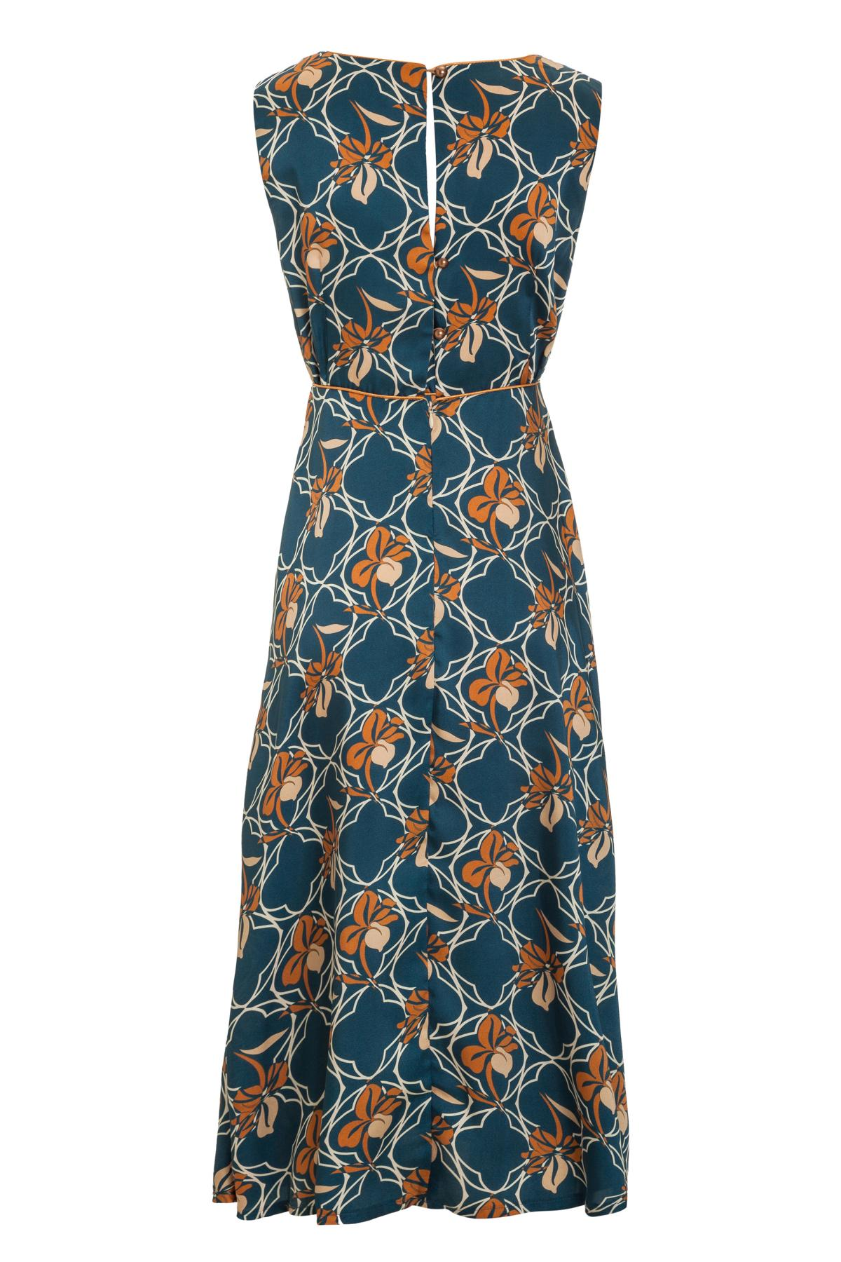 Rückansicht von Ana Alcazar Midi Kleid Manexis