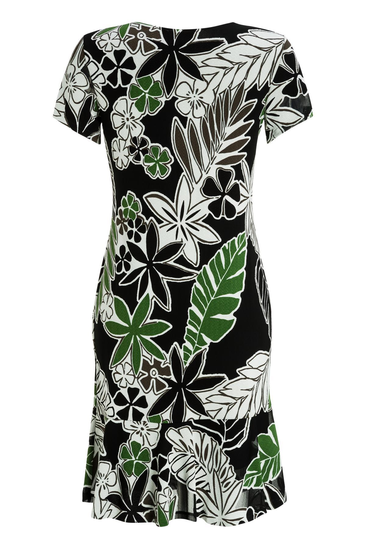 Rückansicht von Ana Alcazar Seventies Kleid Margret