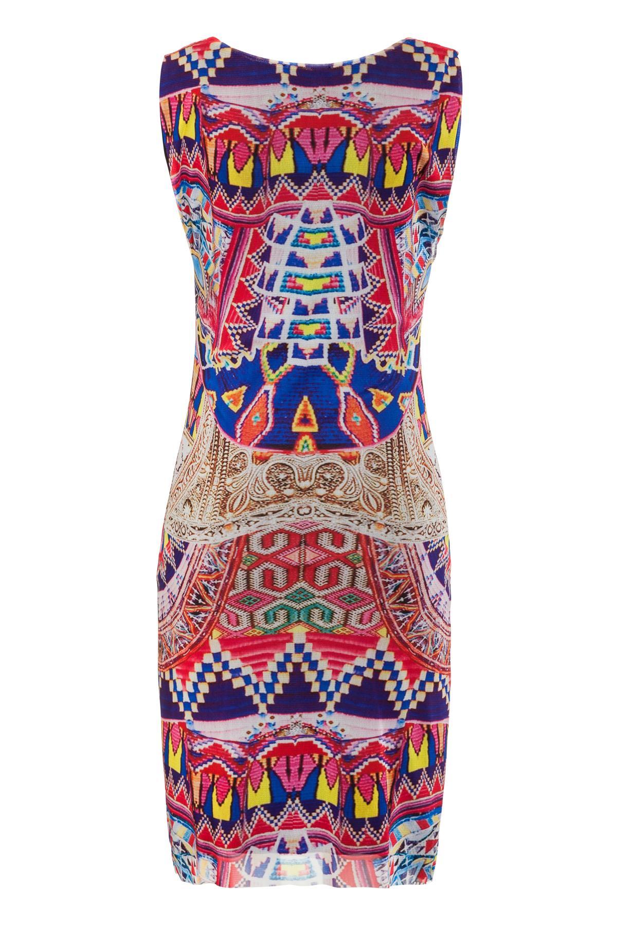 Rückansicht von Ana Alcazar Etui Kleid Melibessa