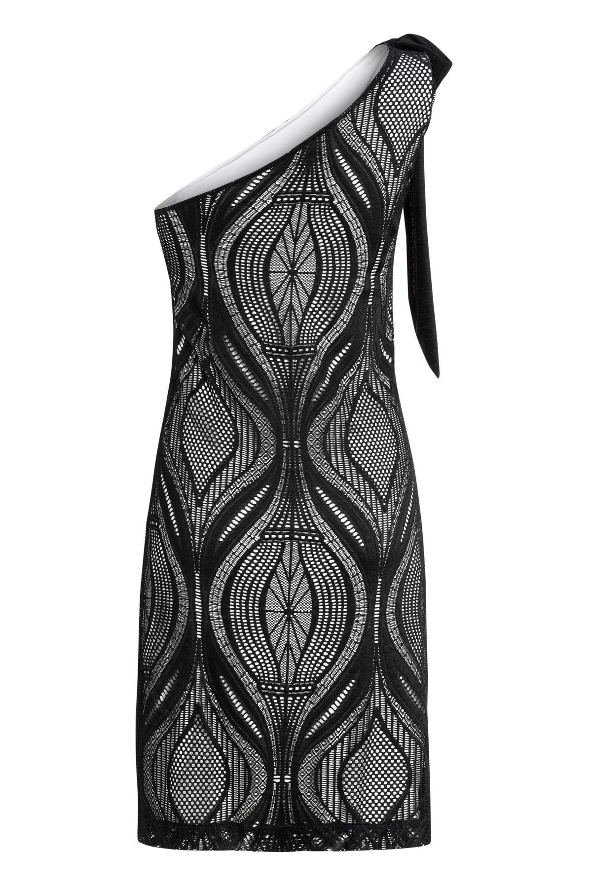 Rückansicht von Ana Alcazar One-Shoulder Kleid Mulena