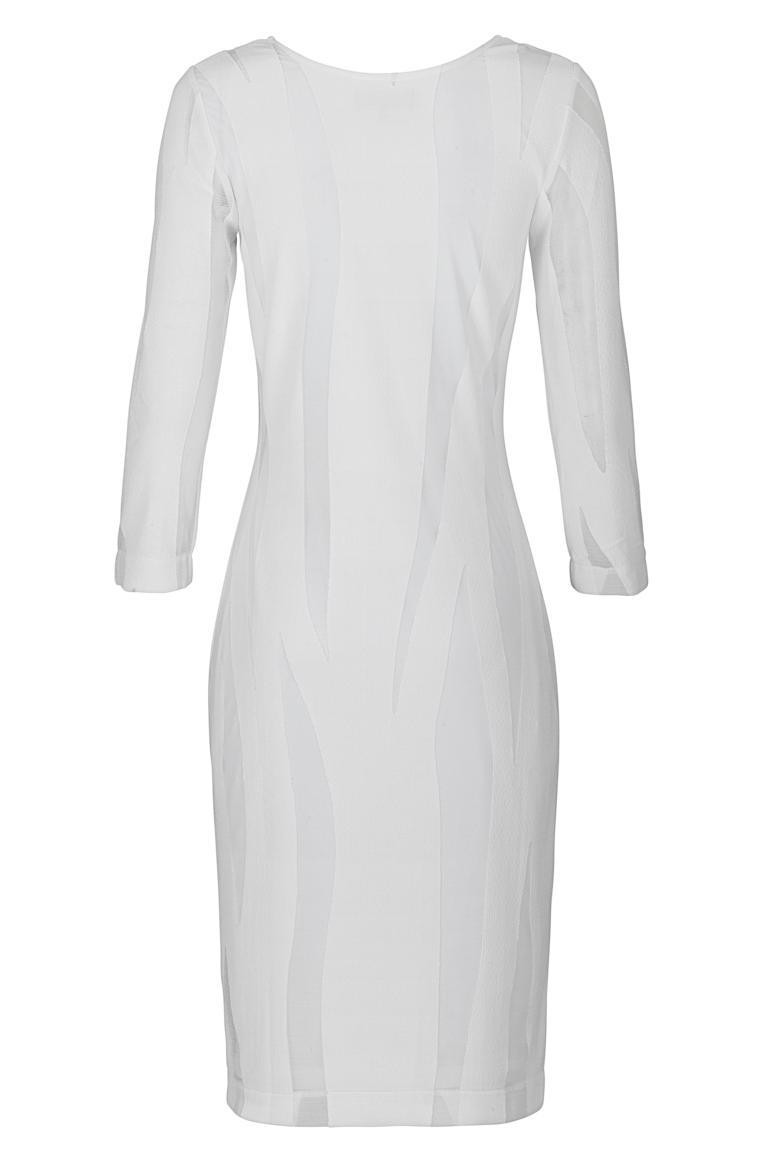 Rückansicht von Ana Alcazar Schlichtes Kleid White Faley
