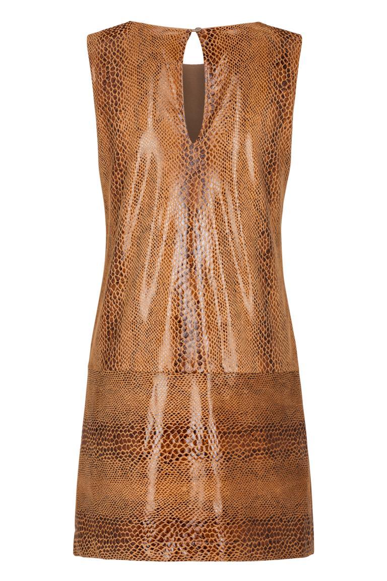 Rückansicht von Ana Alcazar A-Linien Kleid Korana Brown