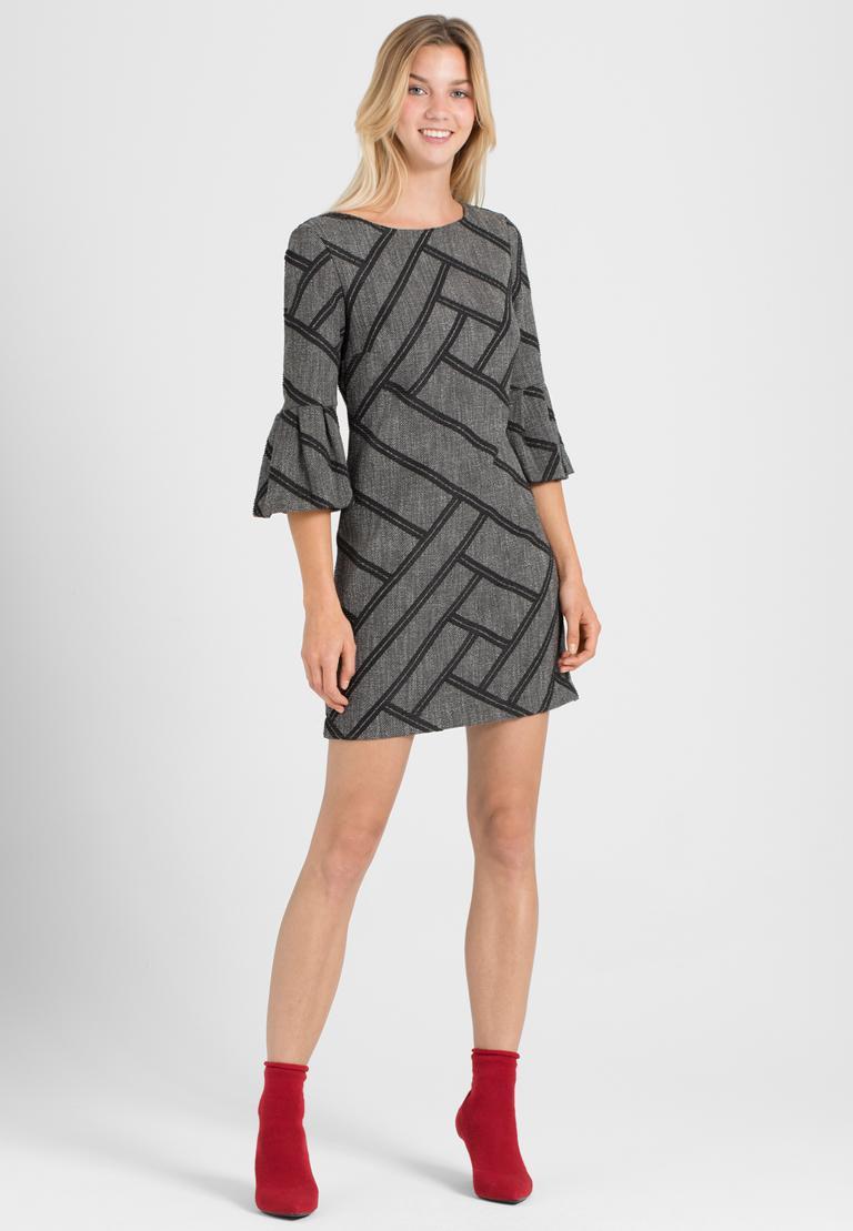 Rückansicht von Ana Alcazar A-Linien Kleid Osyka