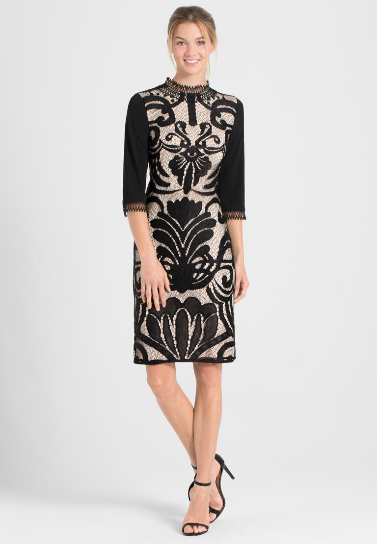 Rear view of Ana Alcazar Sleeved Dress Ohanna