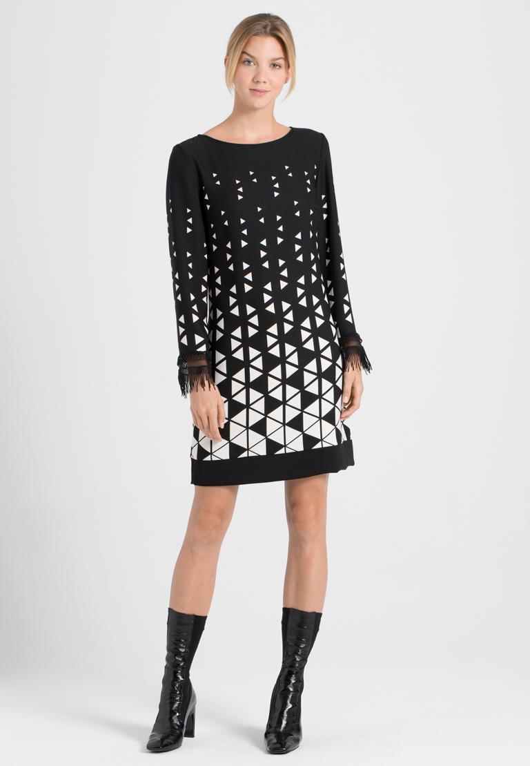 Rückansicht von Ana Alcazar Graphic Kleid Ossanna
