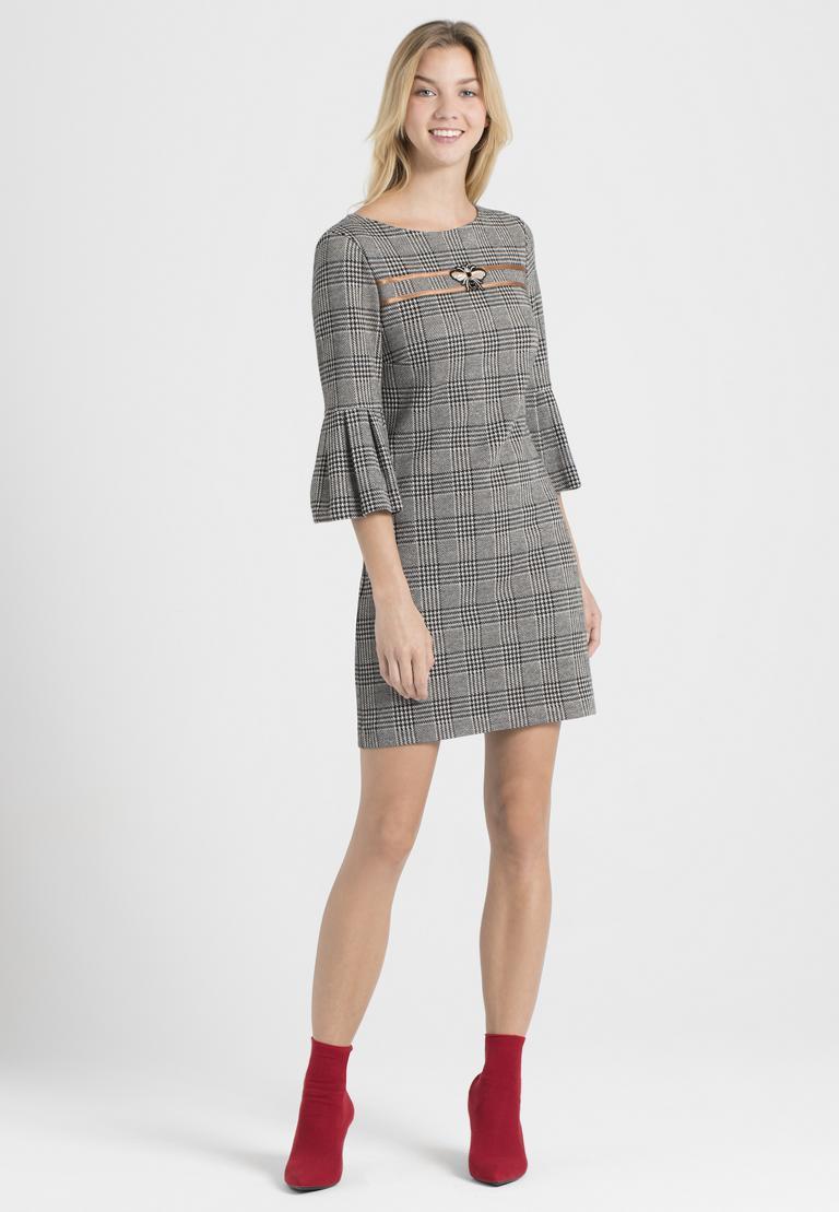 Rückansicht von Ana Alcazar Volantärmel-Kleid Pragys