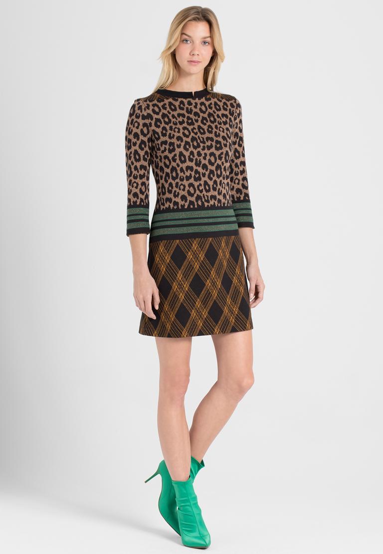 Rückansicht von Ana Alcazar A-Linien-Kleid Parthys