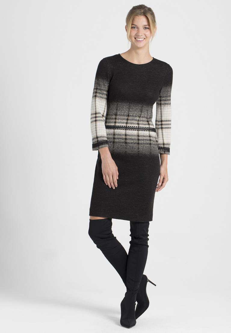 Rückansicht von Ana Alcazar Langarm-Kleid Paranda
