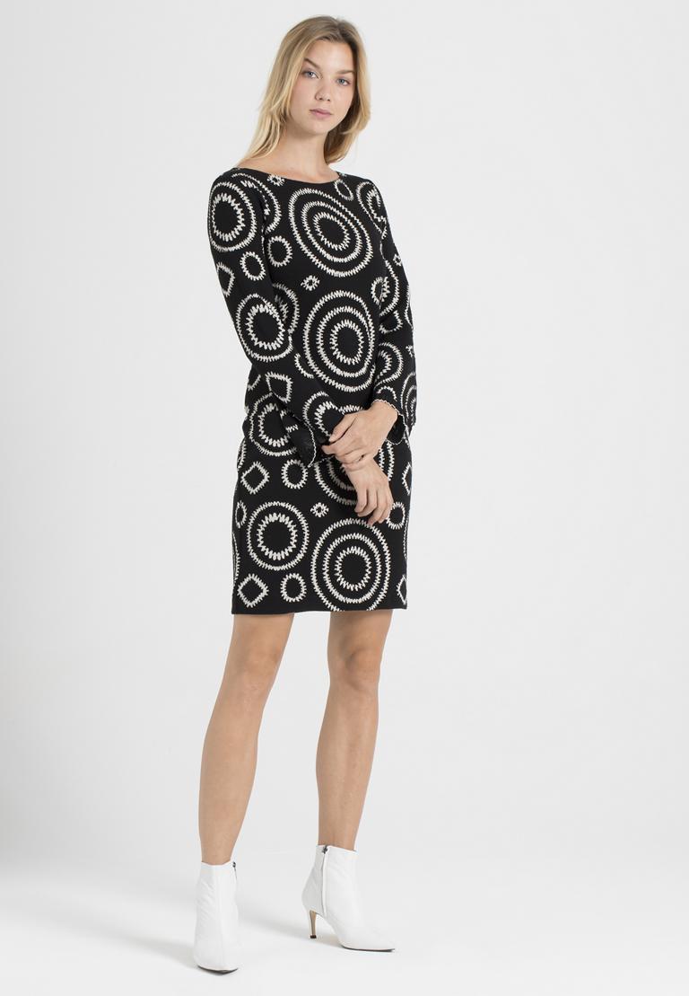 Rückansicht von Ana Alcazar A-Linien-Kleid Pepita Schwarz