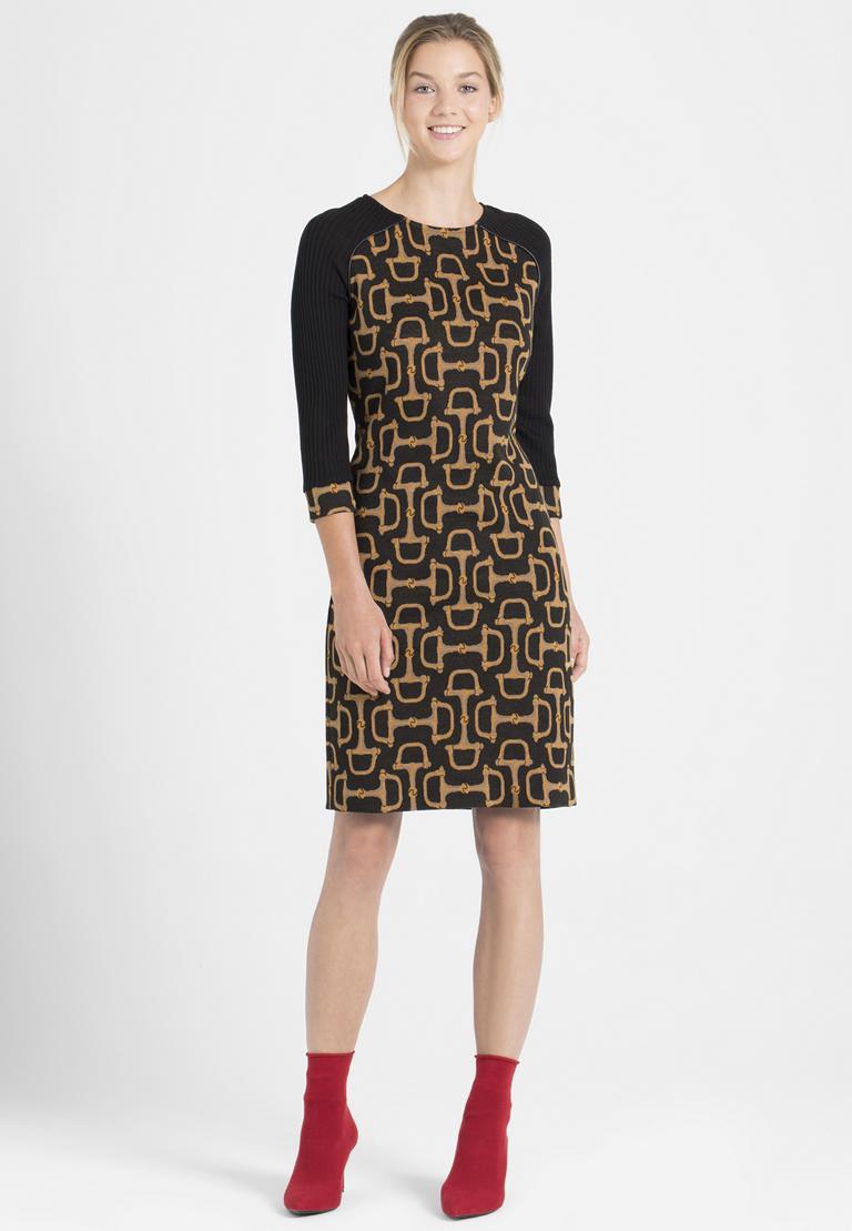 Rückansicht von Ana Alcazar Mix Kleid Petony