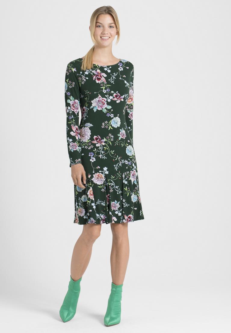 Rückansicht von Ana Alcazar Langarm-Kleid Polxea