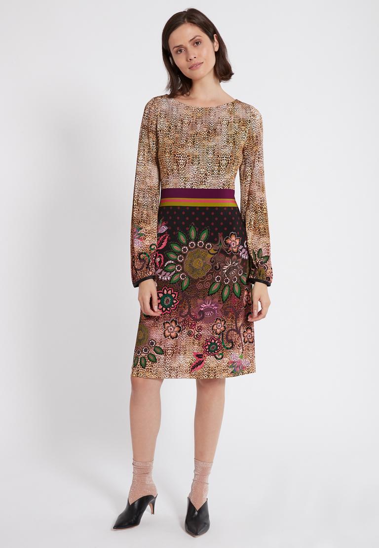 Rückansicht von Ana Alcazar Langarm-Kleid Phadary