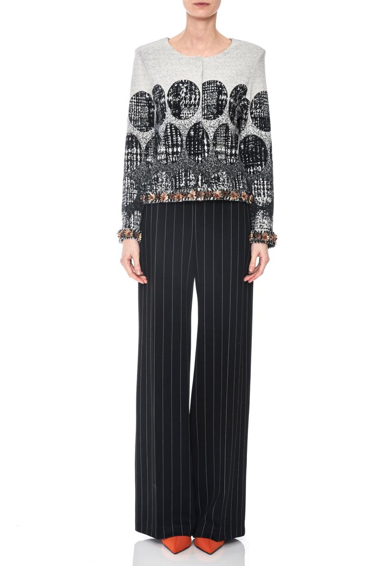Front of Ana Alcazar Jacket Petrike  worn by model