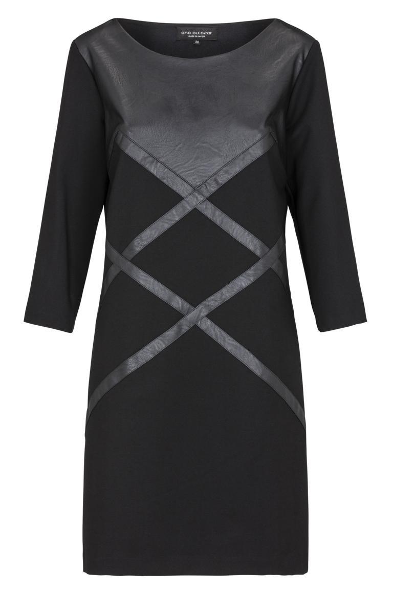 Vorderansicht von Ana Alcazar A-Linien Kleid Keylis  angezogen an Model