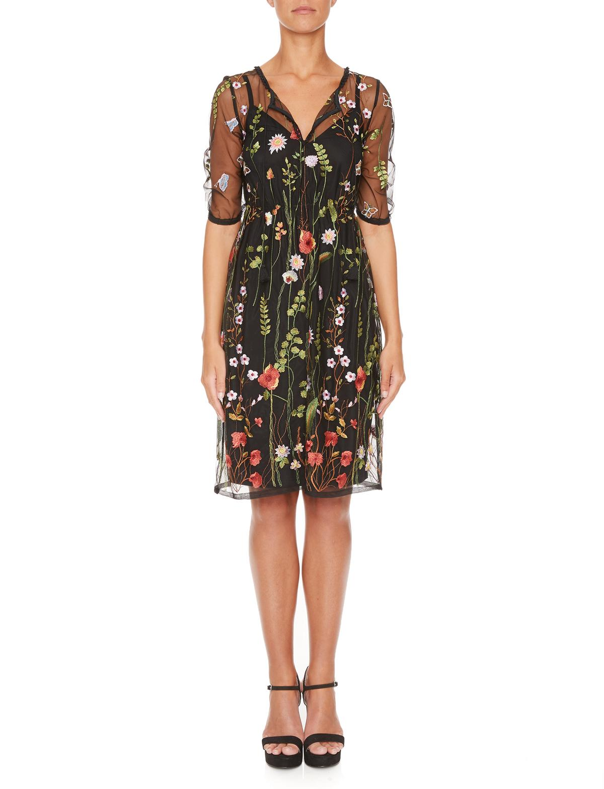 Vorderansicht von Ana Alcazar Limited Edition Tüllkleid Mabel  angezogen an Model