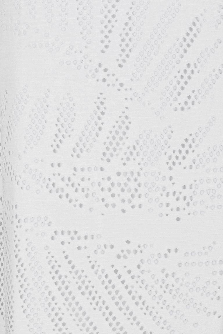 Vorderansicht von Ana Alcazar Volantkleid White Fareta  angezogen an Model