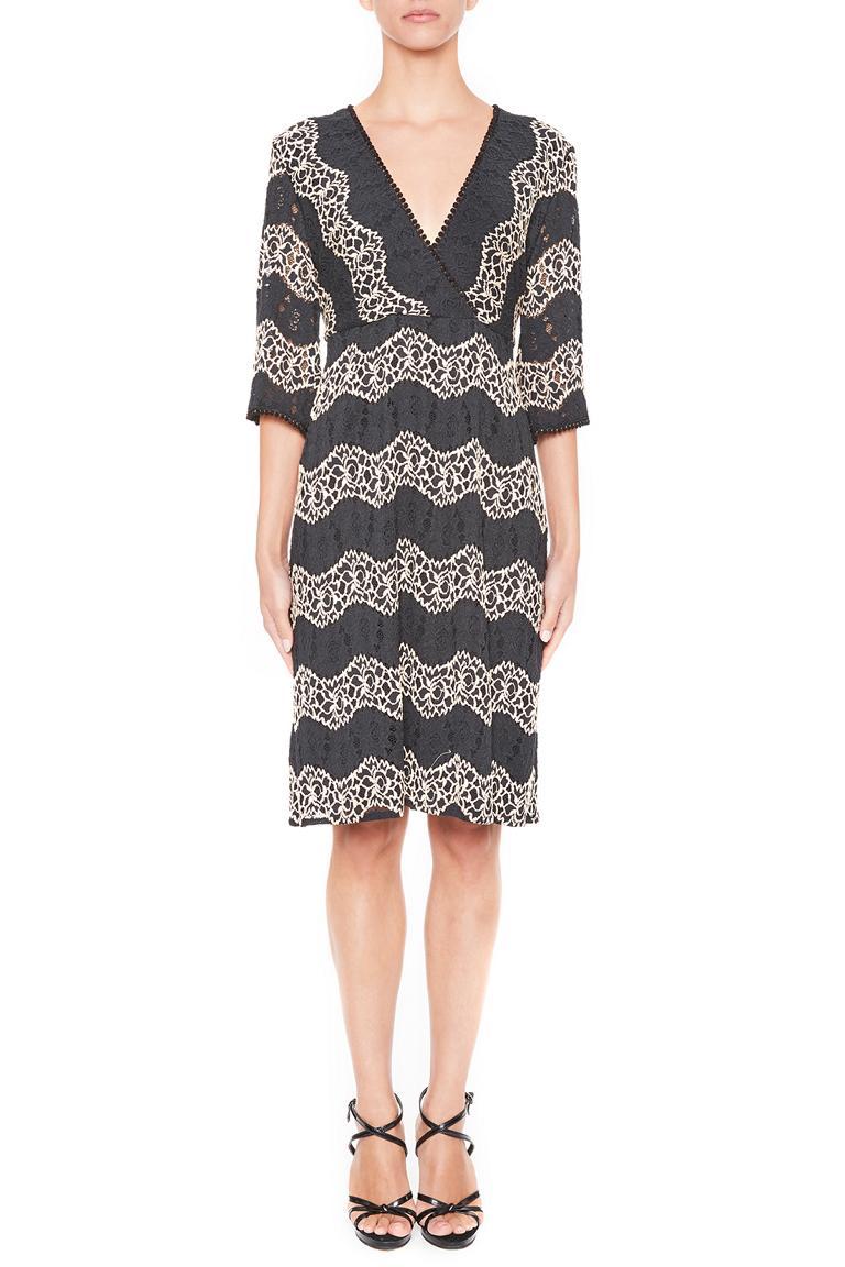 Front of Ana Alcazar Crochet Dress Leandra  worn by model