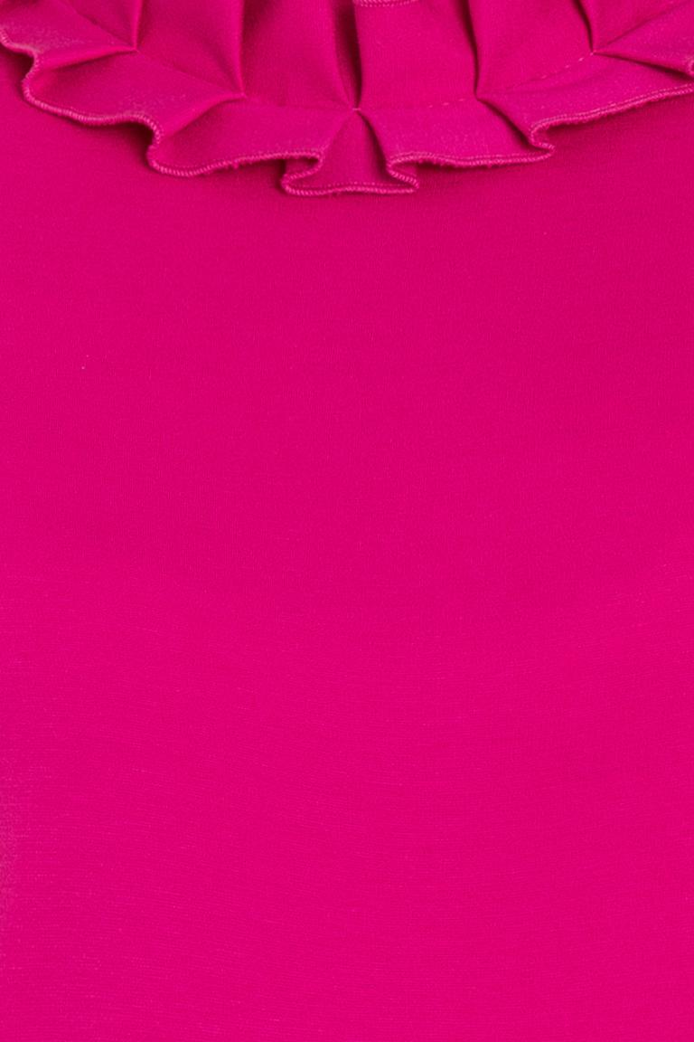 Vorderansicht von Ana Alcazar Volantkleid Opali Pink  angezogen an Model
