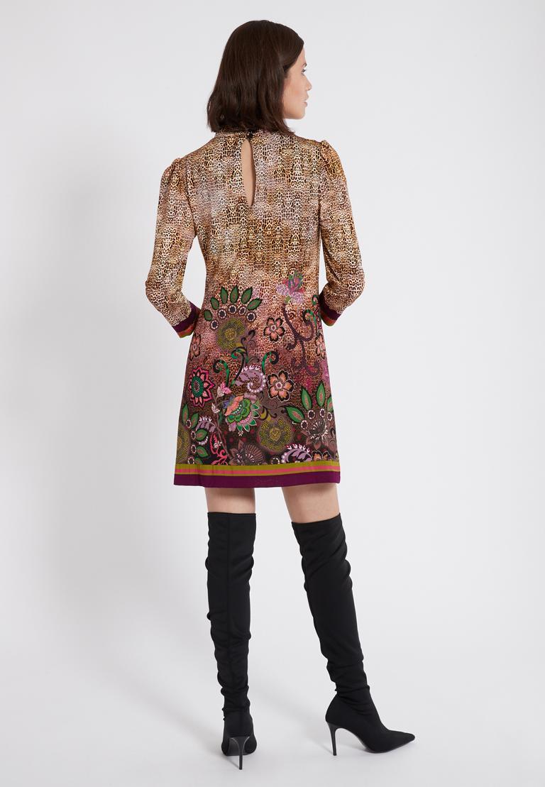 Front of Ana Alcazar Deco Dress Phaedra  worn by model