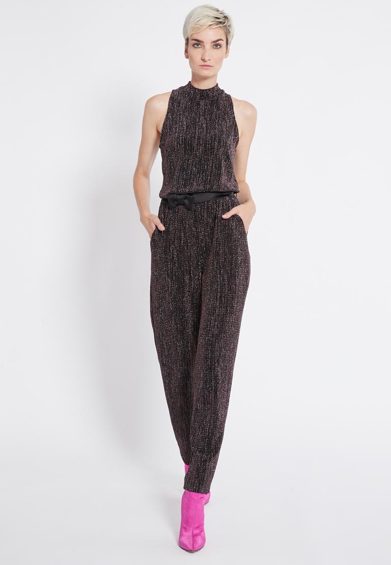 Vorderansicht von Ana Alcazar Glitter Jumpsuit Rafyea  angezogen an Model
