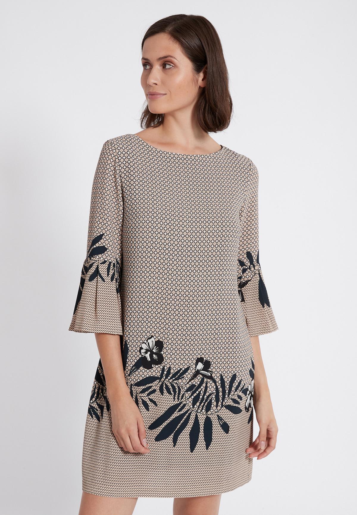 Front of Ana Alcazar Sleeve Dress Serone  worn by model