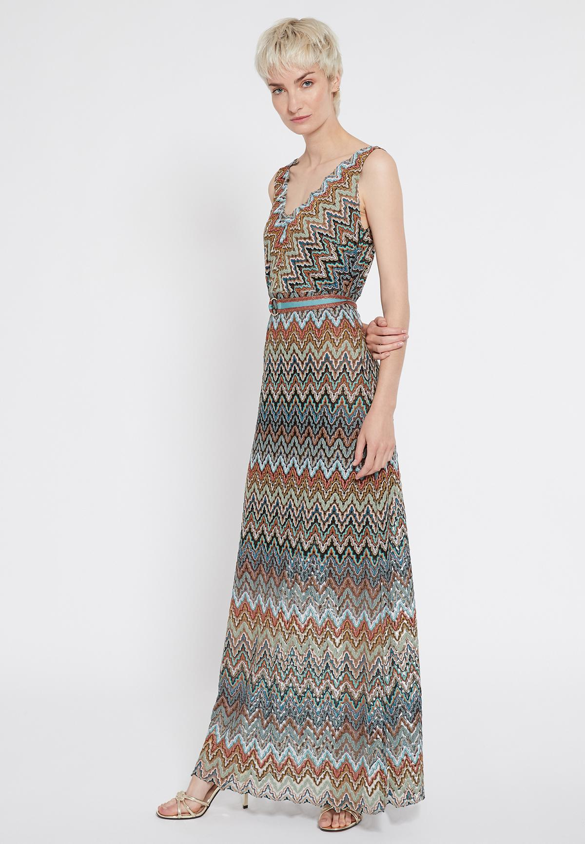Front of Ana Alcazar Maxi Dress Sosinka  worn by model