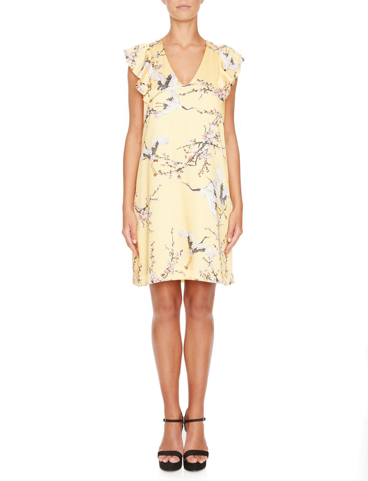 Vorderansicht von Ana Alcazar A-Linien Kleid Mirany  angezogen an Model