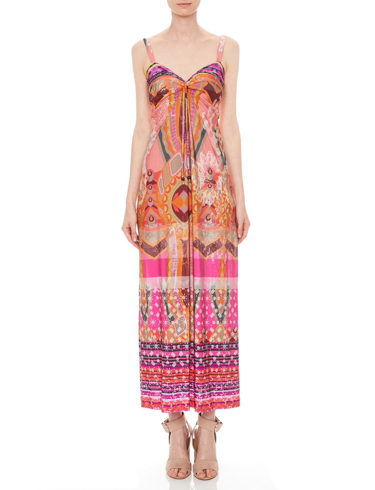 5d1e059ea7c335 Front of Ana Alcazar Maxi Dress Manialyas worn by model
