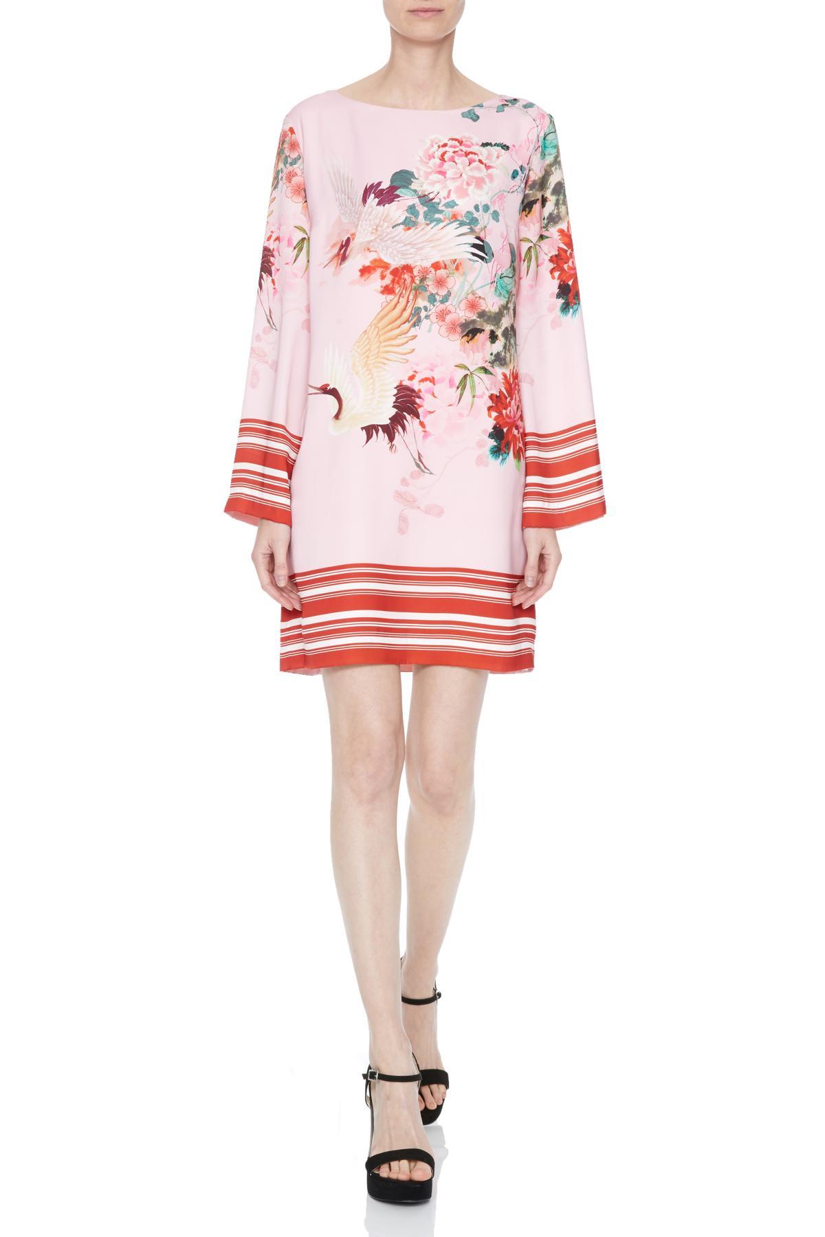 Front of Ana Alcazar Tunic Dress Neya  worn by model