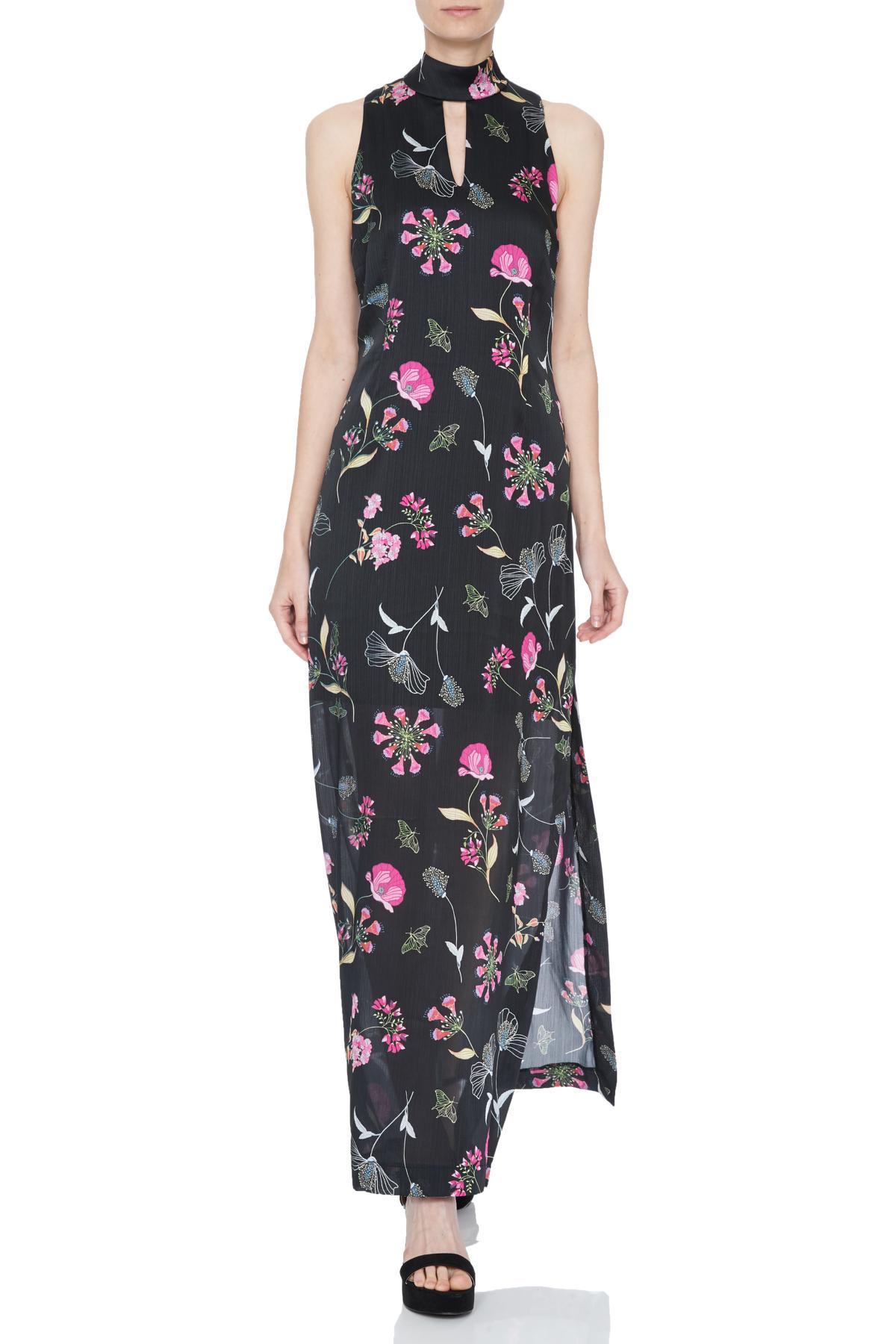 Front of Ana Alcazar Maxi Dress Nissale   worn by model