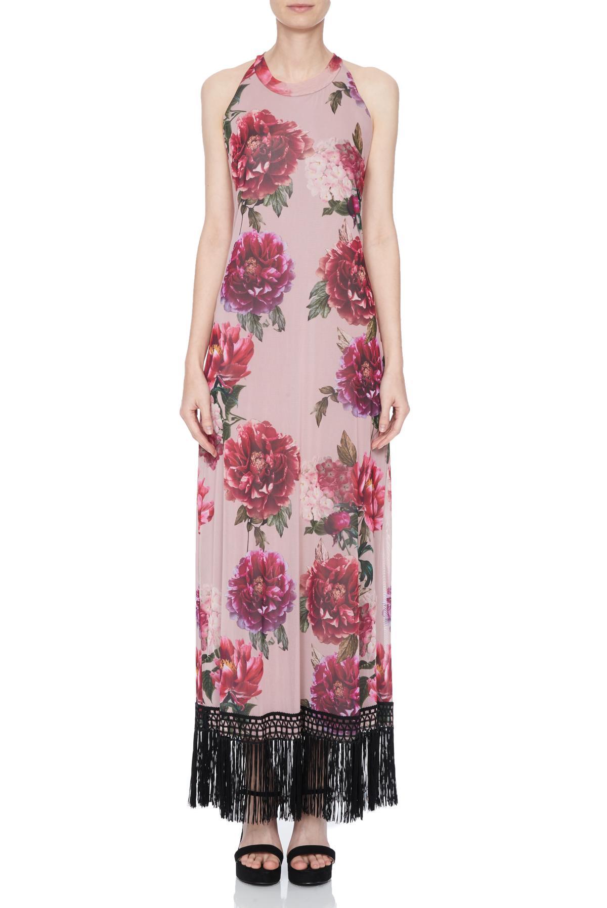 Front of Ana Alcazar Maxi Dress Nivanna  worn by model