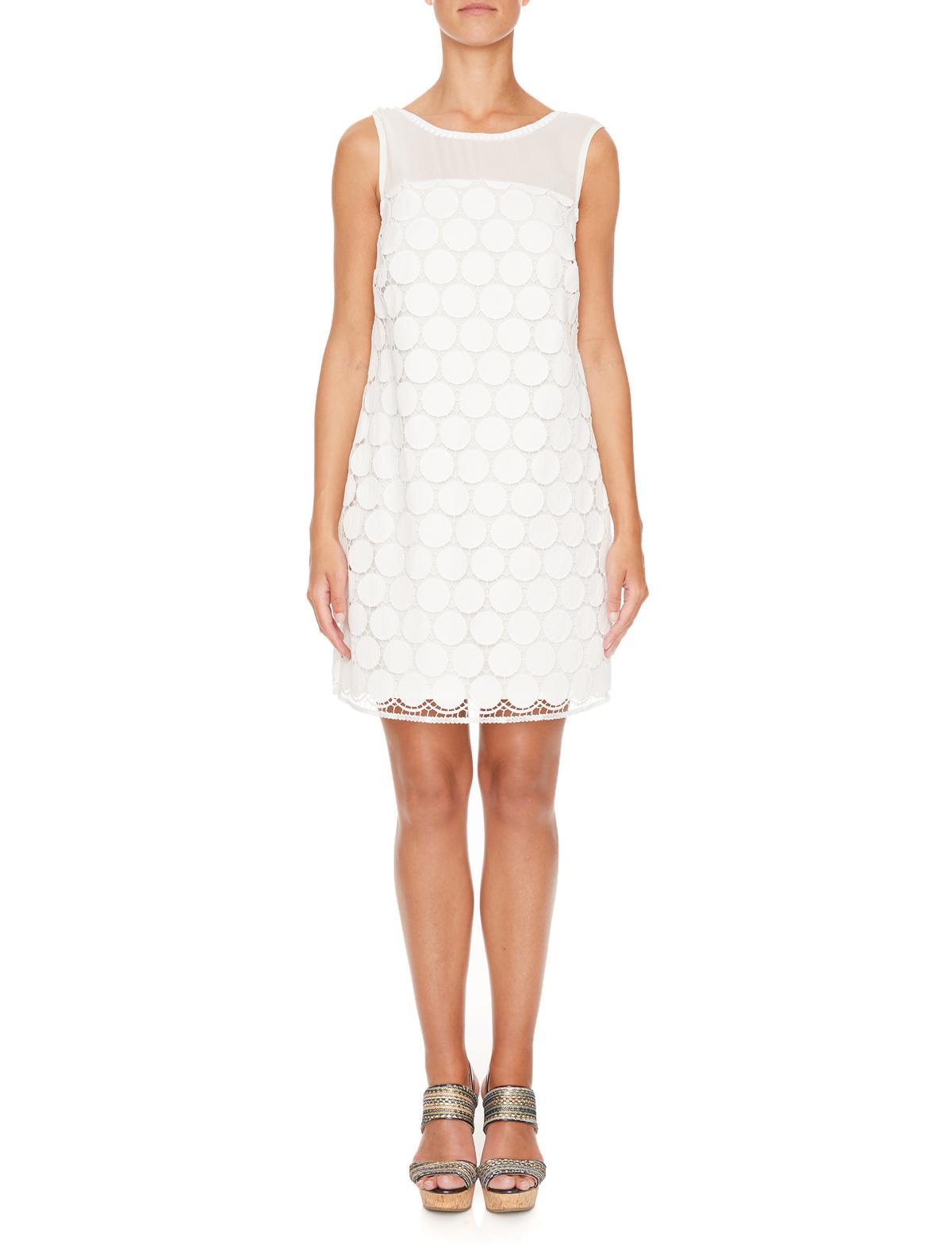 Vorderansicht von Ana Alcazar A-Linien Kleid Maiveas  angezogen an Model