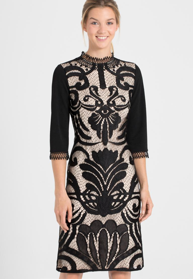 Front of Ana Alcazar Sleeved Dress Ohanna  worn by model