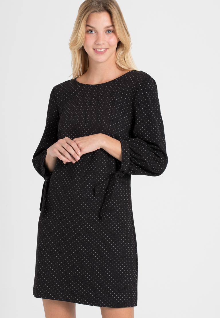 Vorderansicht von Ana Alcazar A-Linien-Kleid Pandite Punkte  angezogen an Model