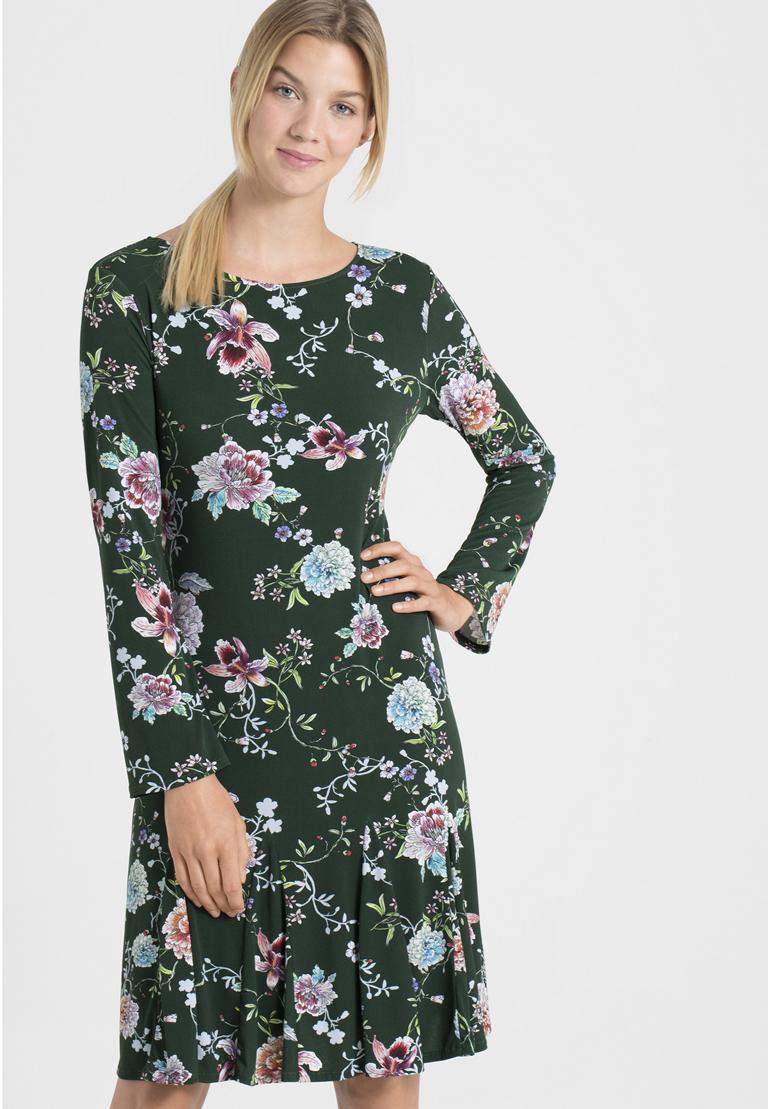 Vorderansicht von Ana Alcazar Langarm-Kleid Polxea  angezogen an Model