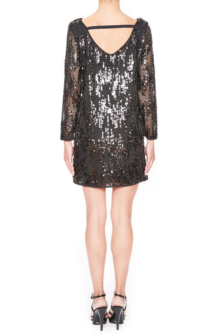 Rückansicht von Ana Alcazar Black Label Paillettenkleid Juveny  angezogen an Model