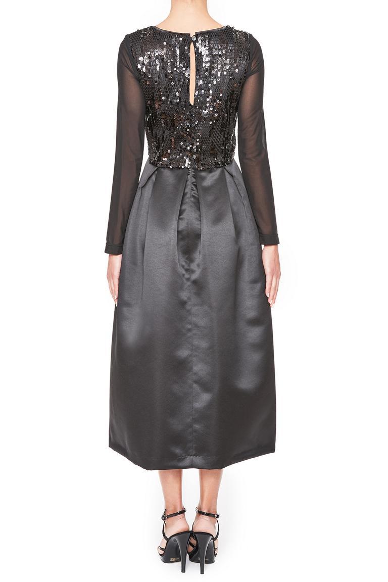 Rückansicht von Ana Alcazar Black Label Abendkleid Juvenys  angezogen an Model