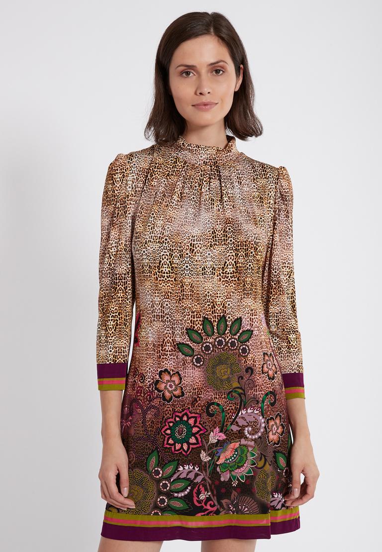 Rear view of Ana Alcazar Deco Dress Phaedra  worn by model