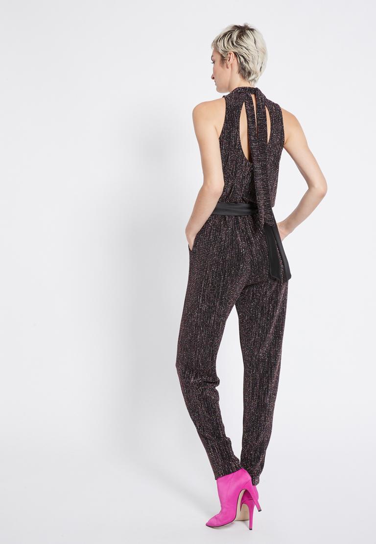 Rückansicht von Ana Alcazar Glitter Jumpsuit Rafyea  angezogen an Model