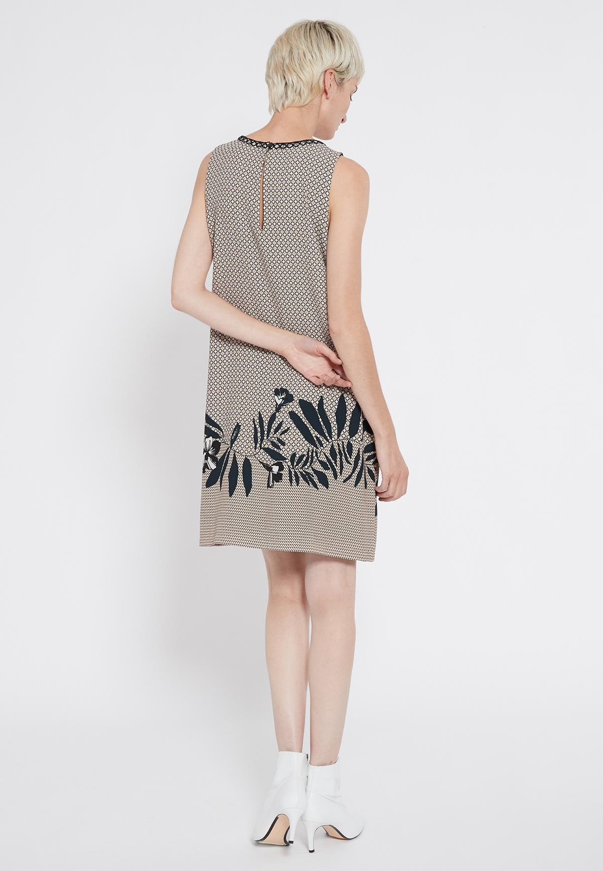 Rear view of Ana Alcazar Sleeveless Dress Sedoni  worn by model