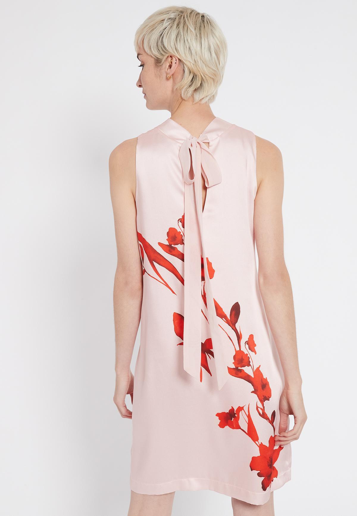 Rear view of Ana Alcazar A-Shaped Dress Senty  worn by model